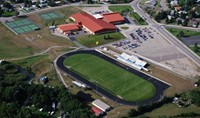 Aerial view of Fergus High School Campus