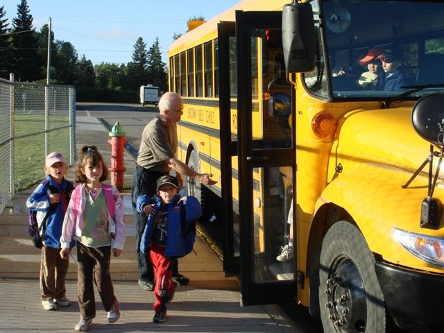 LPS Bus Driver Fred Wood and his Highland Park students.