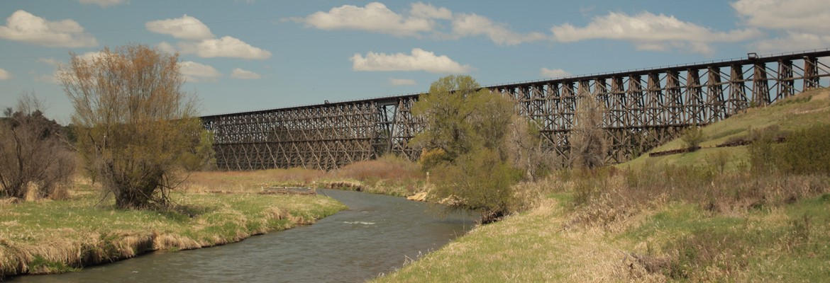 Spring Creek's wooden trestle at Hanover