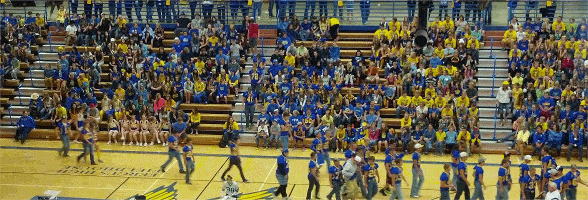 FHS student body at the Homecoming Pep Assembly