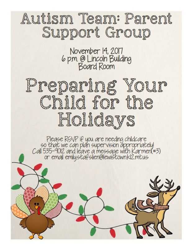 Preparing your child for the holidays poster